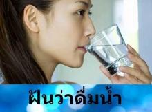 ทำนายฝัน ฝันว่าดื่มน้ำหรือดื่มเหล้า