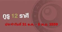 ดวงรายสัปดาห์ ประจำวันที่ 31 ต.ค. - 6 พ.ย. 2559